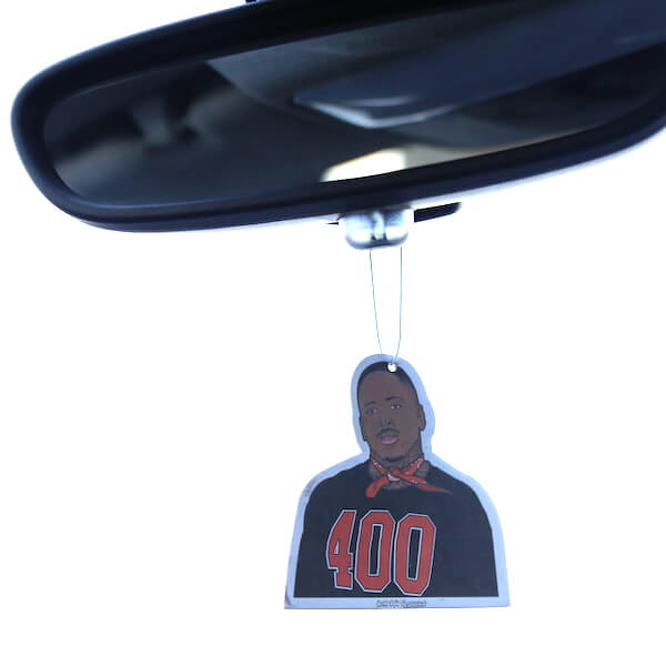 Custom personalized car air freshener on rearview