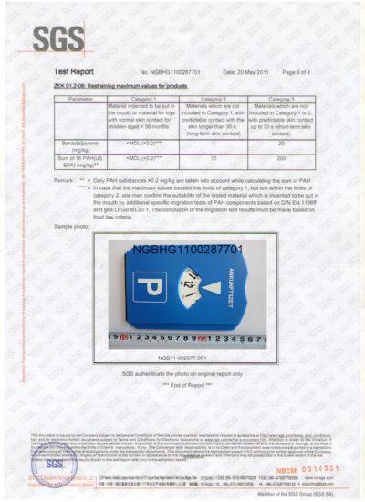 PAHs&ROHS certificate