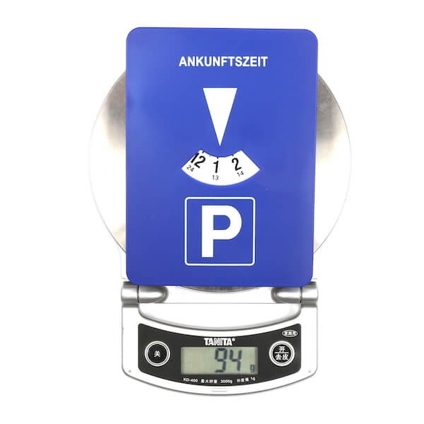 automatic parking disc weight