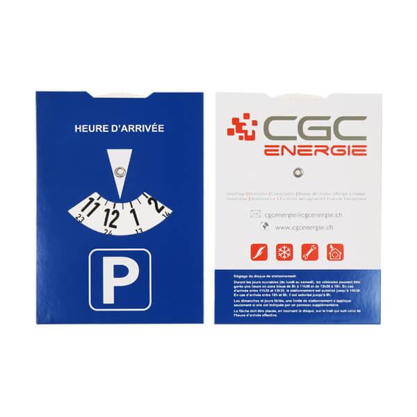 cheap custom printing paper parking disc