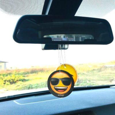 custom paper air freshener in car
