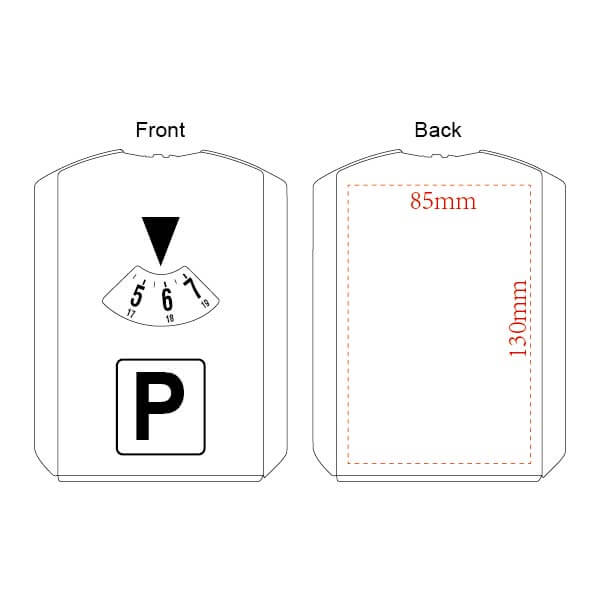 parking disc printing area
