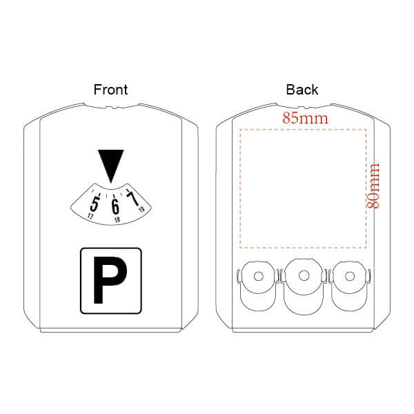 parking timer with coins printing area