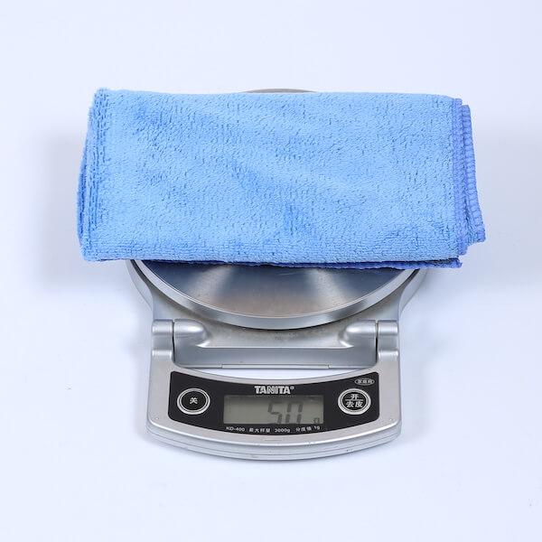 16x16 blue microfiber towel terry 300gsm