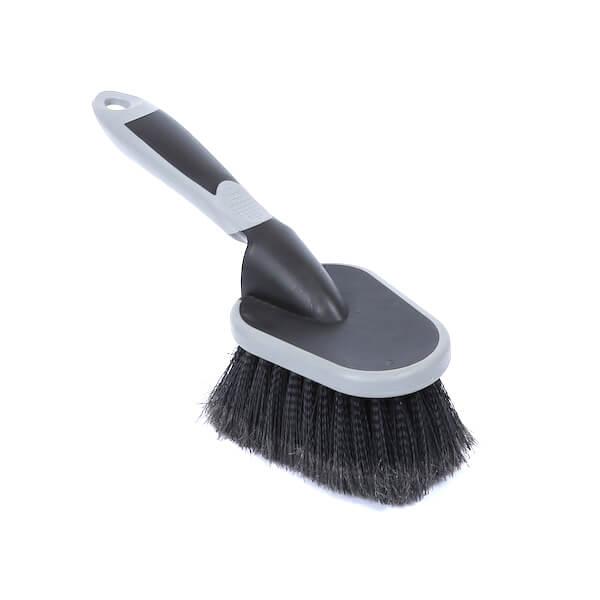 Soft bristle tire rim cleaning brush