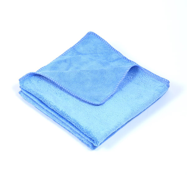 blue microfiber towels